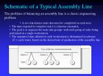 schematic of a typical assembly line