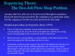 sequencing theory the two job flow shop problem