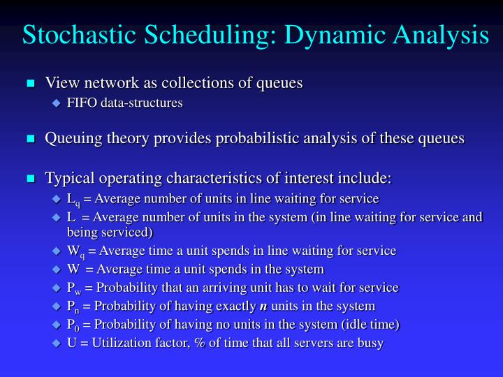 Stochastic Scheduling: Dynamic Analysis