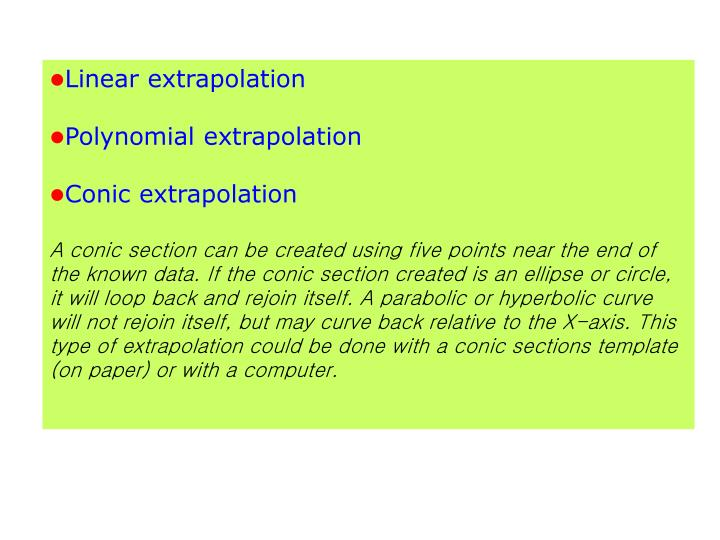 Linear extrapolation