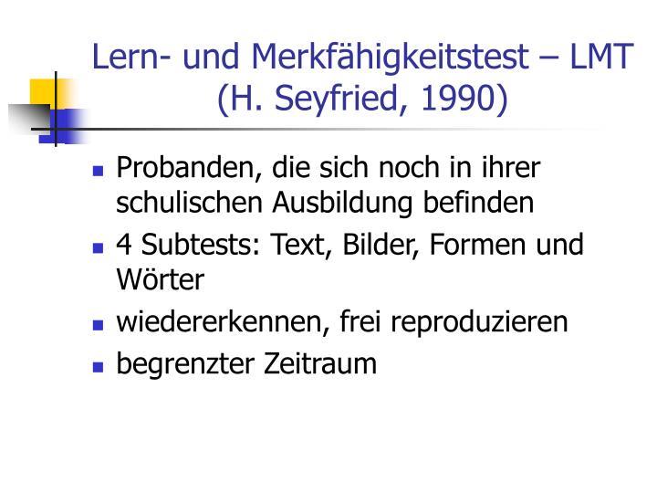 Lern- und Merkfähigkeitstest – LMT