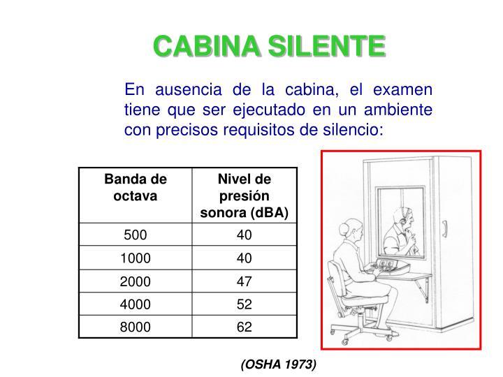 CABINA SILENTE