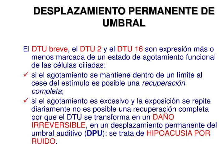 DESPLAZAMIENTO PERMANENTE DE UMBRAL