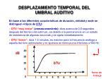 desplazamiento temporal del umbral auditivo1