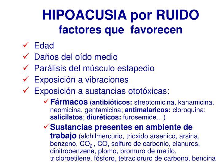 HIPOACUSIA por RUIDO