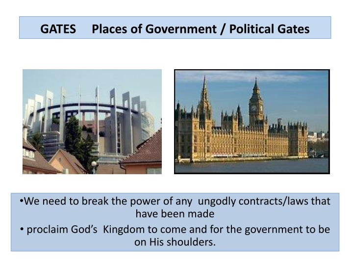 GATES     Places of Government / Political Gates