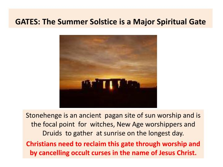 GATES: The Summer Solstice is a Major Spiritual Gate