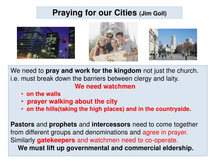 Praying for our Cities