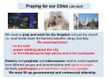 praying for our cities jim goll