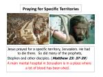 praying for specific territories