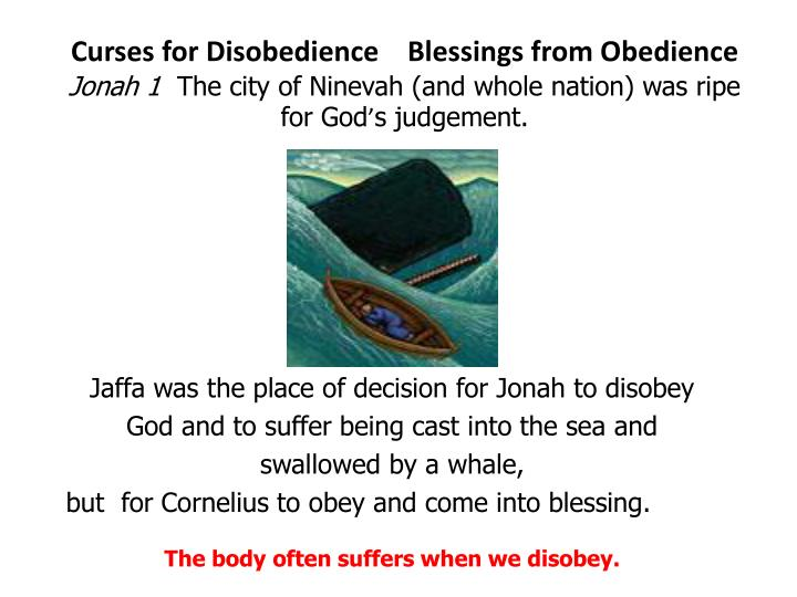 Curses for Disobedience    Blessings from Obedience