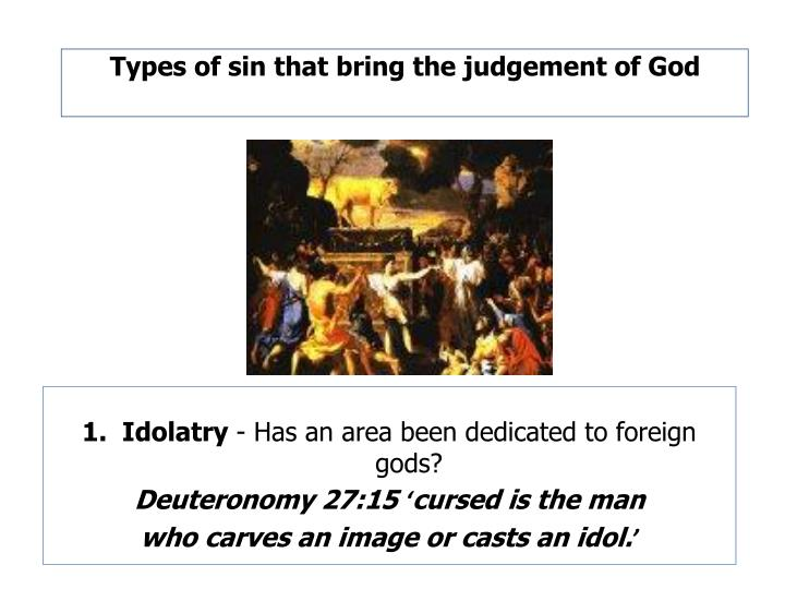 Types of sin that bring the judgement of God