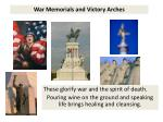 war memorials and victory arches