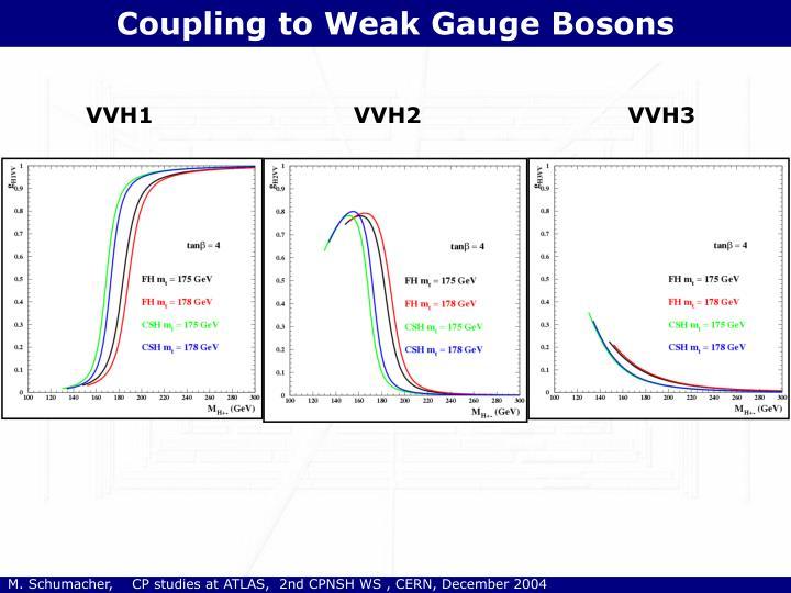 Coupling to Weak Gauge Bosons