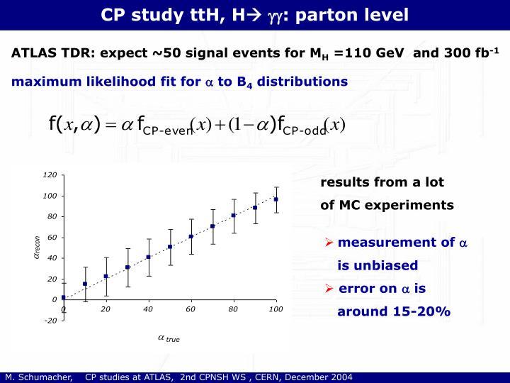 CP study ttH, H