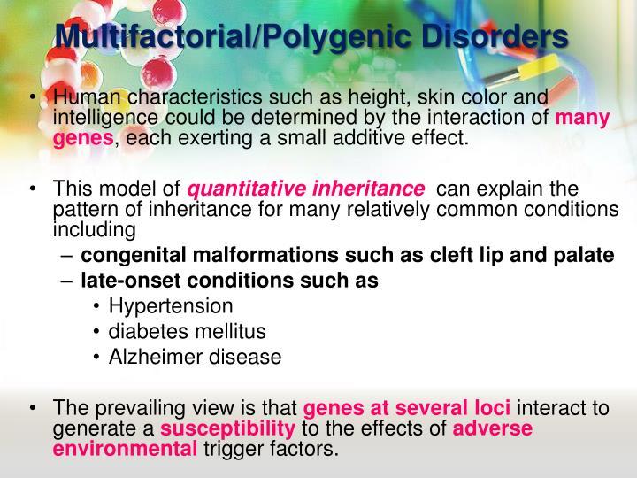 Multifactorial/Polygenic