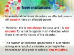 new mutations