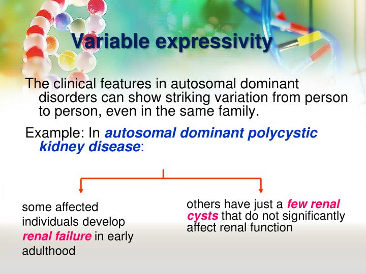 Variable expressivity