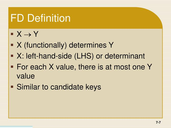 FD Definition