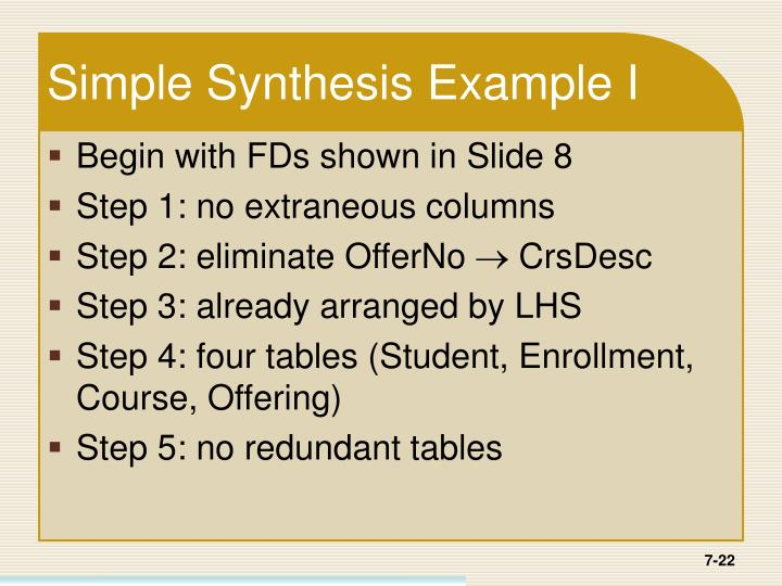 Simple Synthesis Example I