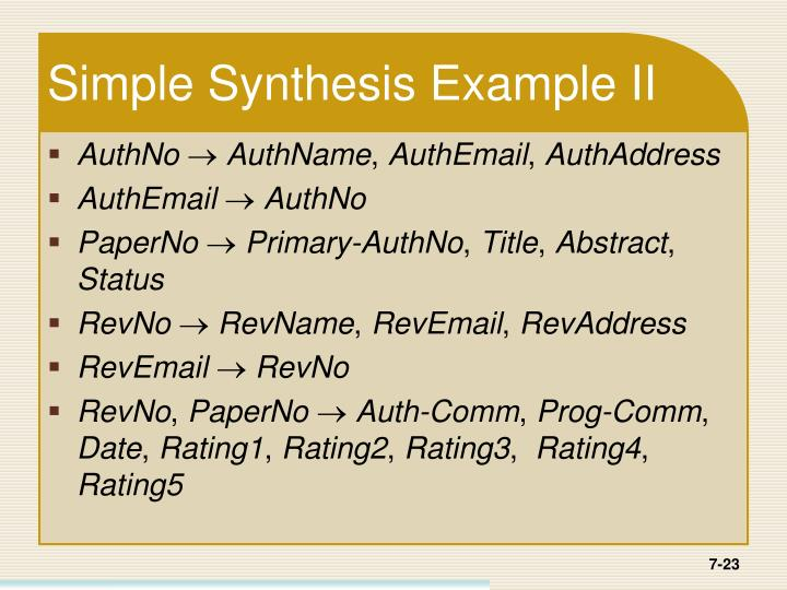 Simple Synthesis Example II