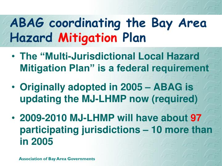ABAG coordinating the Bay Area Hazard