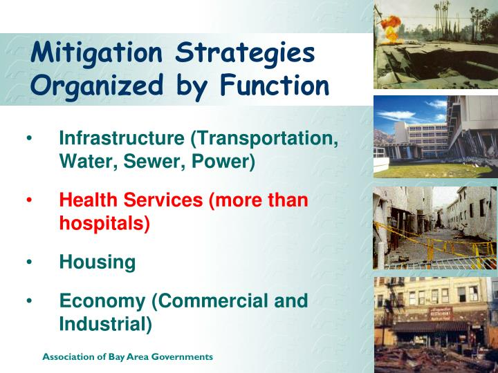 Mitigation Strategies Organized by Function
