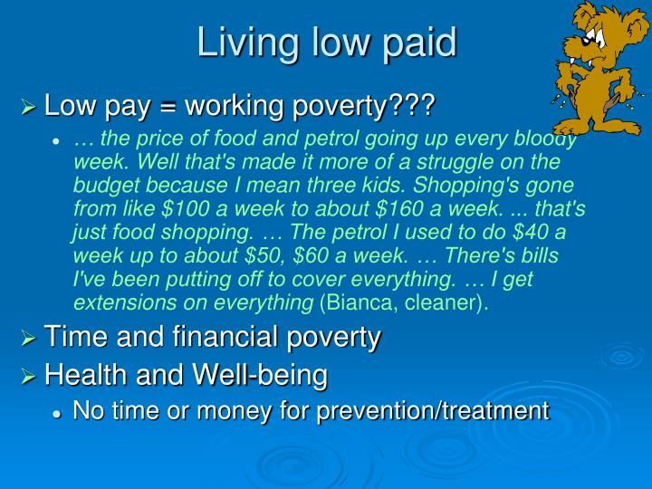 Living low paid