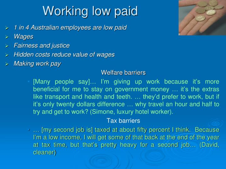 Working low paid