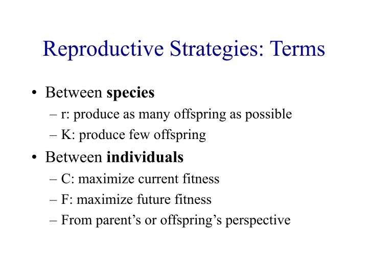 Reproductive Strategies: Terms