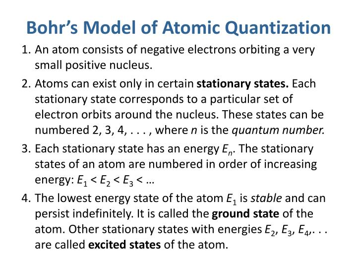Bohr's Model of Atomic Quantization
