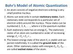 bohr s model of atomic quantization