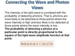 connecting the wave and photon views