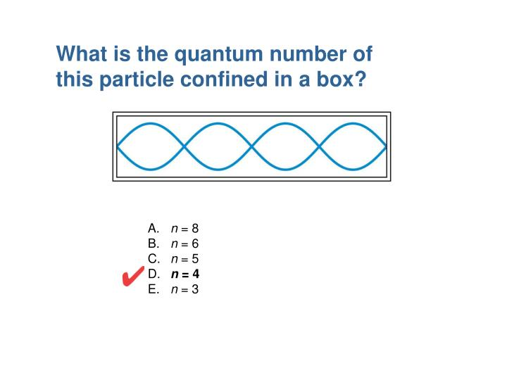 What is the quantum number of this particle confined in a box?