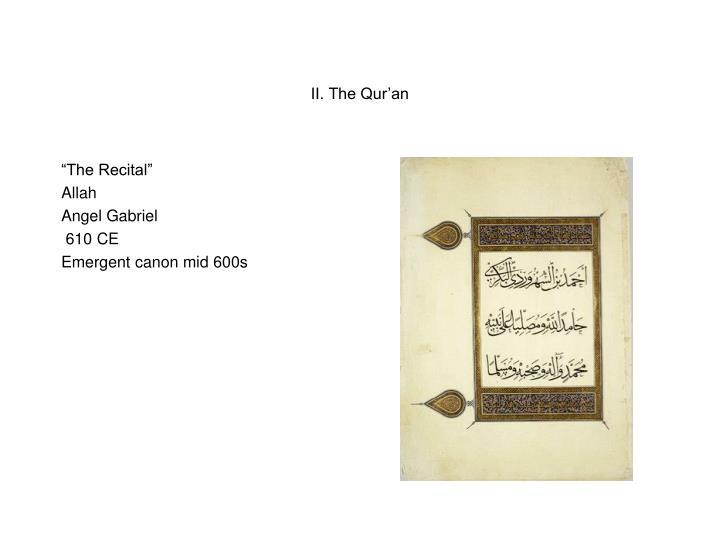 II. The Qur'an