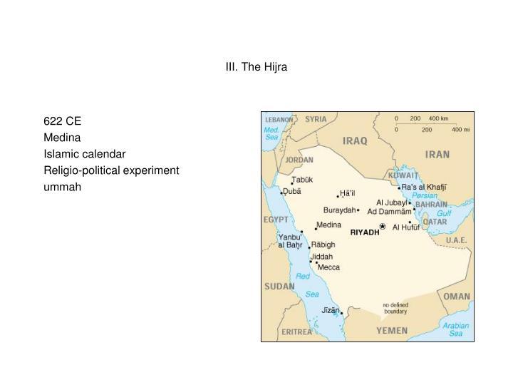 III. The Hijra