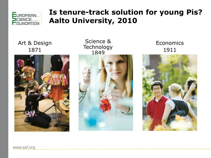 Is tenure-track solution for young Pis?