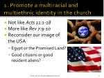 1 promote a multiracial and multiethnic identity in the church