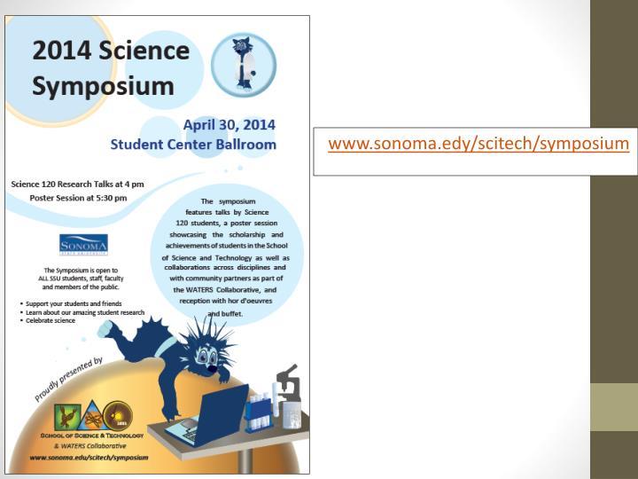 www.sonoma.edy/scitech/symposium