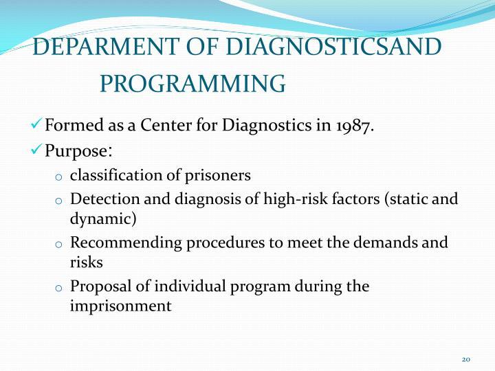 DEPARMENT OF DIAGNOSTICSAND