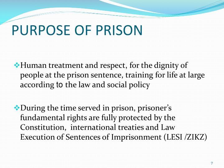 PURPOSE OF PRISON