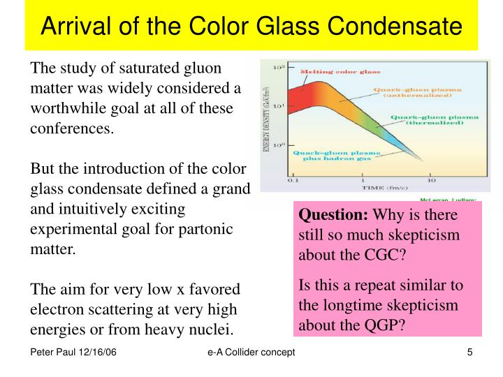 Arrival of the Color Glass Condensate