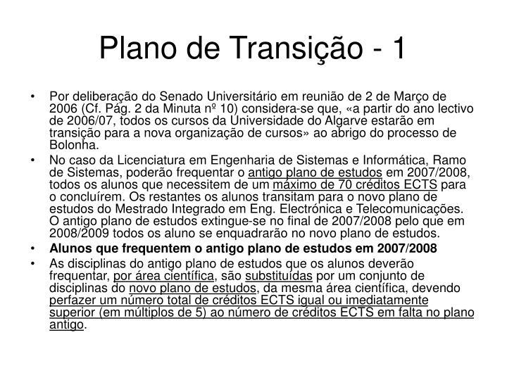 Plano de Transição - 1
