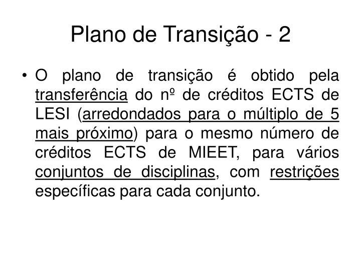 Plano de Transição - 2