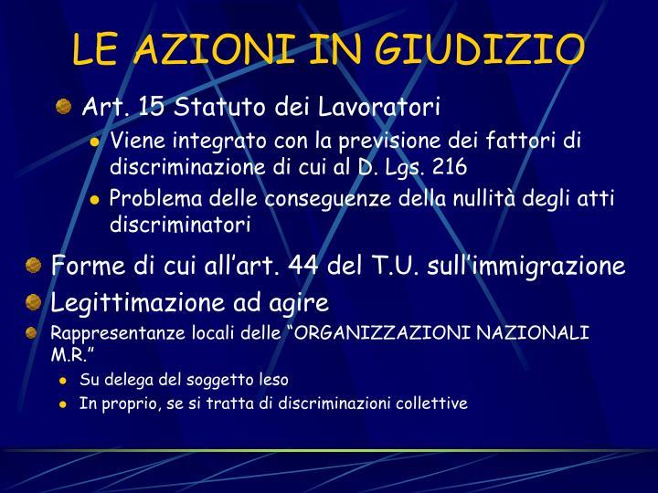 Art. 15 Statuto dei Lavoratori