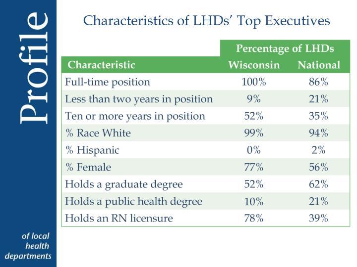 Characteristics of LHDs' Top Executives