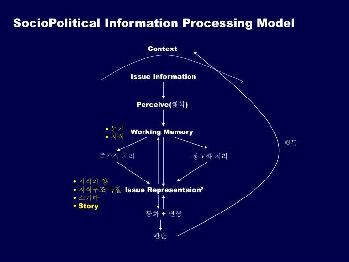 SocioPolitical Information Processing Model
