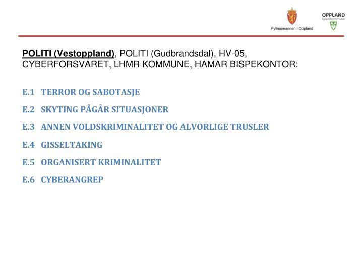 POLITI (Vestoppland)