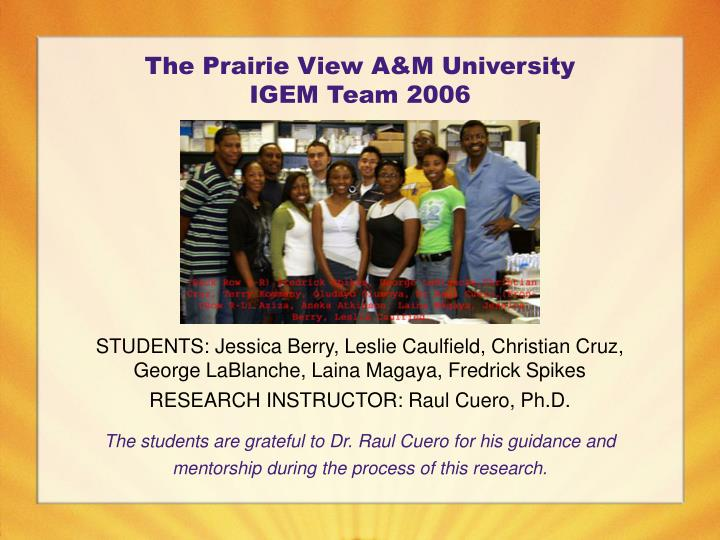 The Prairie View A&M University