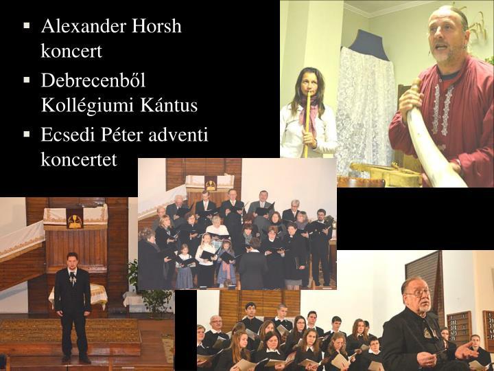 Alexander Horsh koncert
